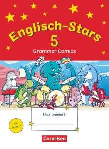 Englisch-Stars 5. Schuljahr - Übungsheft Grammar Comics, Buch