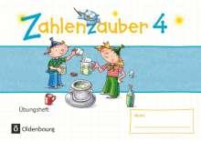 Bettina Betz: Zahlenzauber - Mathematik für Grundschulen - Materialien zu den Ausgaben 2016 und Bayern 2014 - 4. Schuljahr. Übungsheft - Mit Lösungen, Buch