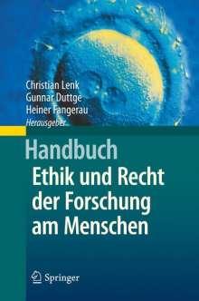 Handbuch Ethik und Recht der Forschung am Menschen, Buch