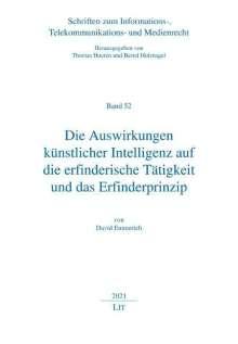David Emmerich: Die Auswirkungen künstlicher Intelligenz auf die erfinderische Tätigkeit und das Erfinderprinzip, Buch