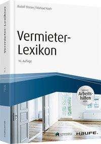 Rudolf Stürzer: Vermieter-Lexikon - inkl. Arbeitshilfen online, Buch