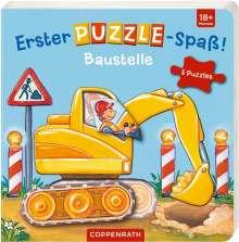 Erster Puzzle-Spaß! Baustelle, Buch