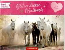 Pferdefreunde Glitzersticker-Malbuch, Buch