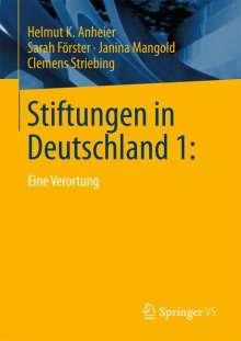 Helmut K. Anheier: Stiftungen in Deutschland 1, Buch