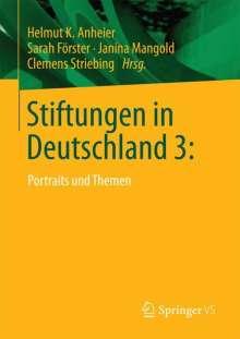 Stiftungen in Deutschland 3:, Buch