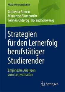 Gardenia Alonso: Strategien für den Lernerfolg berufstätiger Studierender, Buch