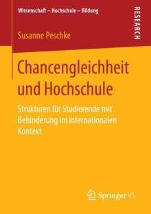 Susanne Peschke: Chancengleichheit und Hochschule, Buch