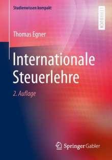 Thomas Egner: Internationale Steuerlehre, Buch