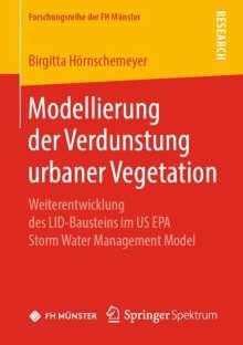 Birgitta Hörnschemeyer: Modellierung der Verdunstung urbaner Vegetation, Buch