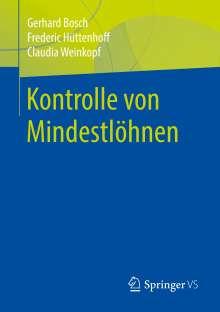 Gerhard Bosch: Kontrolle von Mindestlöhnen, Buch