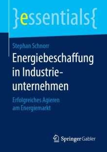 Stephan Schnorr: Energiebeschaffung in Industrieunternehmen, Buch