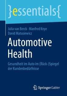 Julia van Berck: Automotive Health, Buch