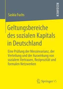 Saskia Fuchs: Geltungsbereiche des sozialen Kapitals in Deutschland, Buch