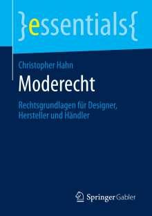 Christopher Hahn: Moderecht, Buch