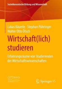 Lukas Bäuerle: Wirtschaft(lich) studieren, Buch
