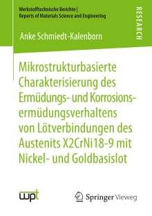 Anke Schmiedt-Kalenborn: Mikrostrukturbasierte Charakterisierung des Ermüdungs- und Korrosionsermüdungsverhaltens von Lötverbindungen des Austenits X2CrNi18-9 mit Nickel- und Goldbasislot, Buch