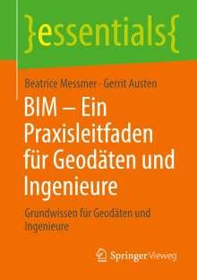 Beatrice Messmer: BIM - Ein Praxisleitfaden für Geodäten und Ingenieure, Buch
