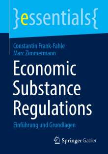 Constantin Frank-Fahle: Economic Substance Regulations, Buch