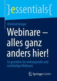 Winfried Krieger: Webinare - alles ganz anders hier!, Buch