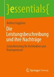 Andrea Faggiano: Die Leistungsbeschreibung und ihre Nachträge, Buch