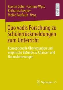Quo vadis Forschung zu Schülerrückmeldungen zum Unterricht, Buch