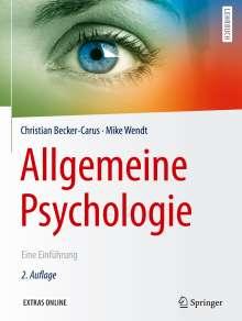 Christian Becker-Carus: Allgemeine Psychologie, Buch