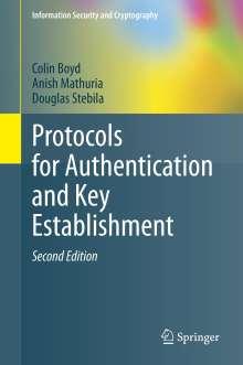Colin Boyd: Protocols for Authentication and Key Establishment, Buch