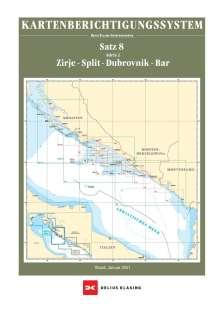 Berichtigung Sportbootkarten Satz 8: Adria 2  (Ausgabe 2021), Diverse