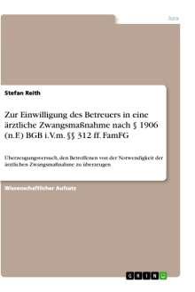 Stefan Reith: Zur Einwilligung des Betreuers in eine ärztliche Zwangsmaßnahme nach § 1906 (n.F.) BGB i.V.m. §§ 312 ff. FamFG, Buch