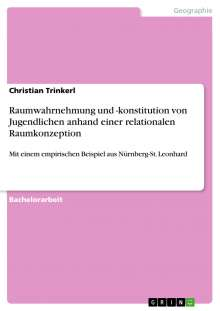 Christian Trinkerl: Raumwahrnehmung und -konstitution von Jugendlichen anhand einer relationalen Raumkonzeption, Buch