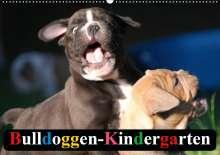 Elisabeth Stanzer: Bulldoggen-Kindergarten (Wandkalender 2020 DIN A2 quer), Diverse
