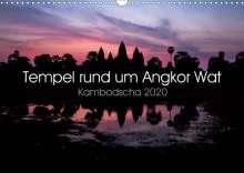 Jürgen Wolf: Tempel rund um Angkor Wat (Wandkalender 2020 DIN A3 quer), Diverse