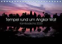 Jürgen Wolf: Tempel rund um Angkor Wat (Tischkalender 2020 DIN A5 quer), Diverse