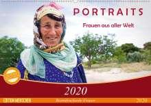 Claudia Wiens: PORTRAITS - Frauen aus aller Welt (Wandkalender 2020 DIN A2 quer), Diverse