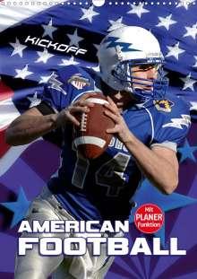 Renate Bleicher: American Football - Kickoff (Wandkalender 2020 DIN A3 hoch), Diverse