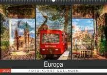 Carmen Steiner & Matthias Konrad: Europa Foto-Kunst Collagen (Wandkalender 2020 DIN A2 quer), Diverse