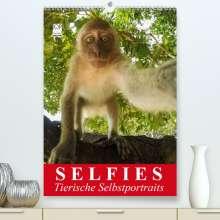 Elisabeth Stanzer: Selfies. Tierische Selbstportraits(Premium, hochwertiger DIN A2 Wandkalender 2020, Kunstdruck in Hochglanz), Diverse