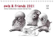 Stefan Kahlhammer: owls & friends 2021 (Tischkalender 2021 DIN A5 quer), Kalender