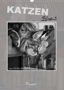 Viktor Gross: Katzen Blues / Planer (Wandkalender 2021 DIN A3 hoch), Kalender