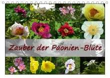 Monika Reiter: Zauber der Päonien-Blüte (Tischkalender 2021 DIN A5 quer), Kalender