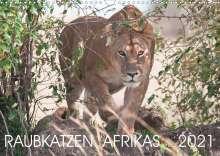 Andreas Lippmann: Raubkatzen Afrikas (Wandkalender 2021 DIN A3 quer), Kalender