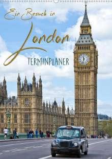 Melanie Viola: Ein Besuch in London / Terminplaner (Wandkalender 2021 DIN A2 hoch), Kalender