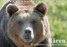 Elisabeth Stanzer: Bären. Kraftpakete auf leisen Sohlen (Tischkalender 2021 DIN A5 quer), Kalender
