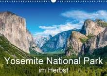 Michael Schepp: Yosemite National Park im Herbst (Wandkalender 2021 DIN A3 quer), Kalender