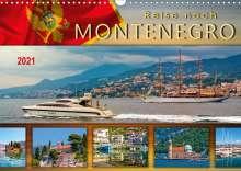 Peter Roder: Reise nach Montenegro (Wandkalender 2021 DIN A3 quer), Kalender