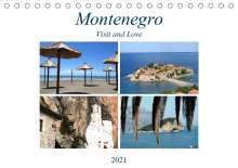 Melanie Sommer - Visit and Love: Montenegro - Visit and Love (Tischkalender 2021 DIN A5 quer), Kalender