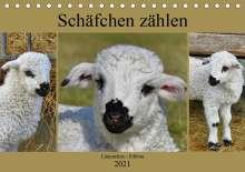 Sabine Löwer: Schäfchen zählen - Lämmchen-Edition (Tischkalender 2021 DIN A5 quer), Kalender