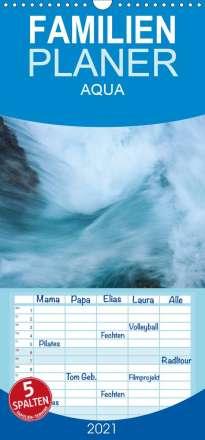 Katja Jentschura: AQUA 2021 - Familienplaner hoch (Wandkalender 2021 , 21 cm x 45 cm, hoch), Kalender