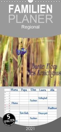 Monika Reiter: Bunte Flora des Kraichgaus - Familienplaner hoch (Wandkalender 2021 , 21 cm x 45 cm, hoch), Kalender