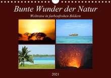 Lisa Steil: Bunte Wunder der Natur (Wandkalender 2021 DIN A4 quer), Kalender